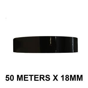 """Black Color Tape - 18mm / 0.75"""" Width"""