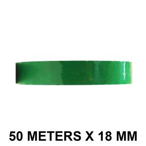 "Green Color Tape - 18mm / 0.75"" Width - 50 Meters in Length"
