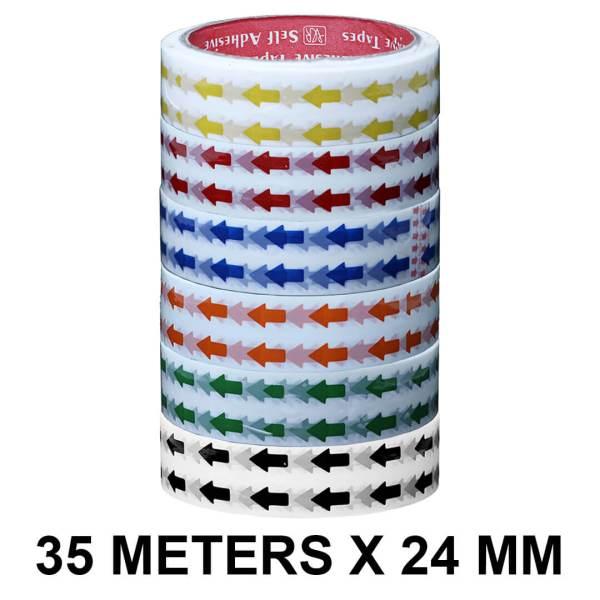 Arrow Printed Tape - 24mm / 01″ Width – 35 Meters Length