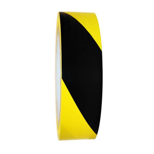 """Yellow and Black Floor Marking Tape - 24mm / 01"""" Width"""