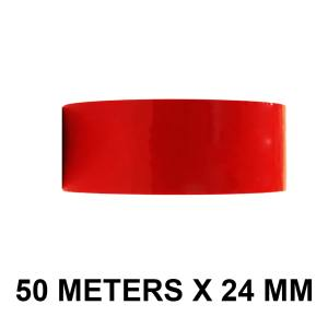 "White Color Tape - 24mm / 1"" Width - 50 Meters in Length"