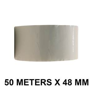 """White Color Tape - 48mm / 02"""" Width - 50 Meters in Length"""
