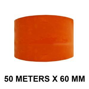 """Orange Color Tape - 60mm / 2.5"""" Width - 50 Meters in Length"""