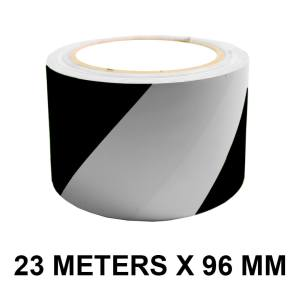 "Black and White Floor Marking Tape - 96mm / 04"" Width"