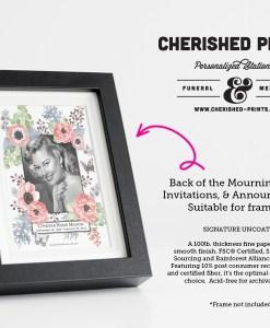 Anemone Funeral Announcment