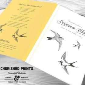 Sparrows Funeral Program