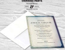 Modern Watercolor Texture Memorial Announcement