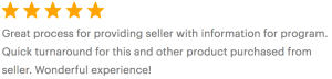 Cherished Prints 5 Star review