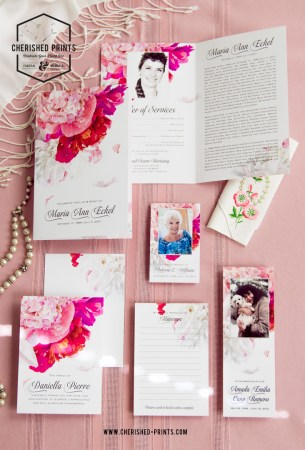 First Flatlay of the Beautiful Soft Peonies Stationery