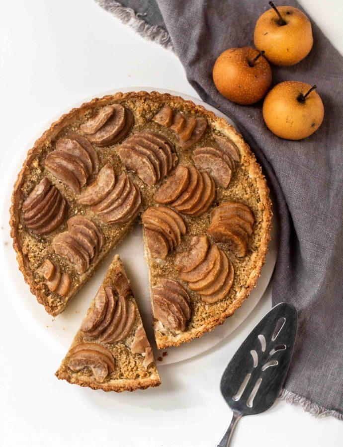 Hazelnut Pear Tart