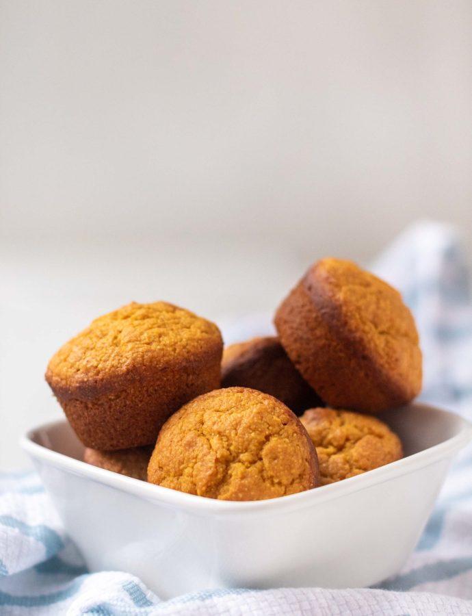 Easy Pumpkin Cornbread Muffins