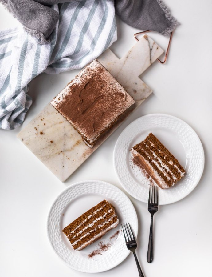 Gingerbread S'mores Cake