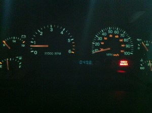 Instrument cluster reads