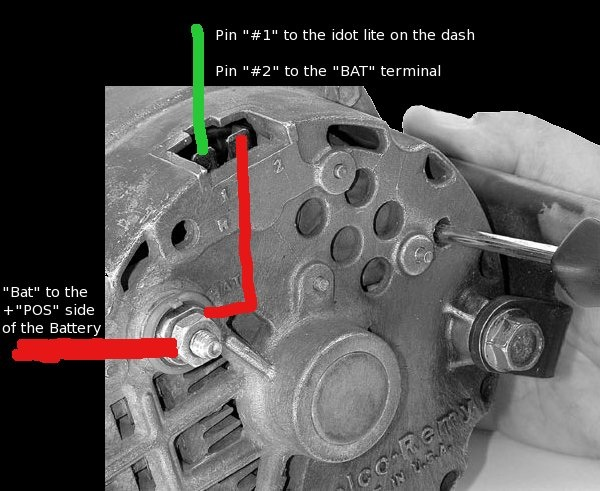 198710d1371676362 idiot light delco remy alt issues image?resized600%2C491 one wire alternator diagram efcaviation com gm alternator wiring diagram at gsmx.co