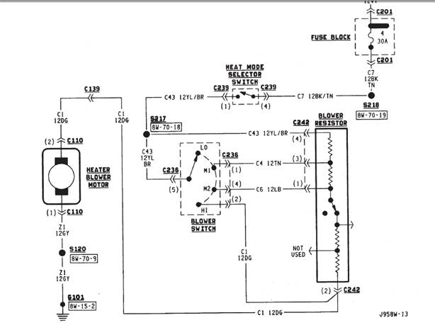 2000 jeep cherokee blower motor location free download