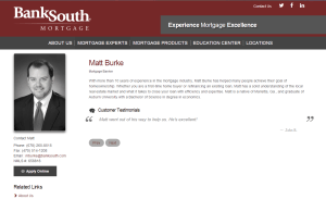 BankSouth Mortgage, Matt Burke