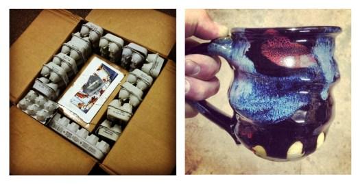 Shipping Packing Egg Cartons Joel Cherrico Pottery Pots Mug