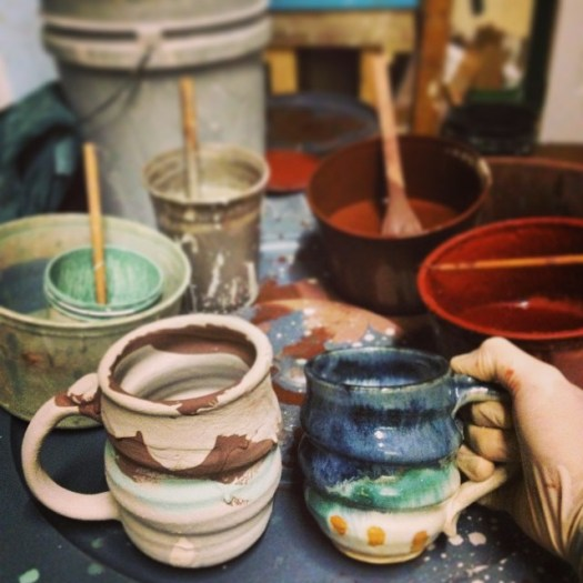 Handmade Ceramic Pottery, Joel Cherrico Pottery, Copper, Cobalt, Iron, Glazes, Pottery