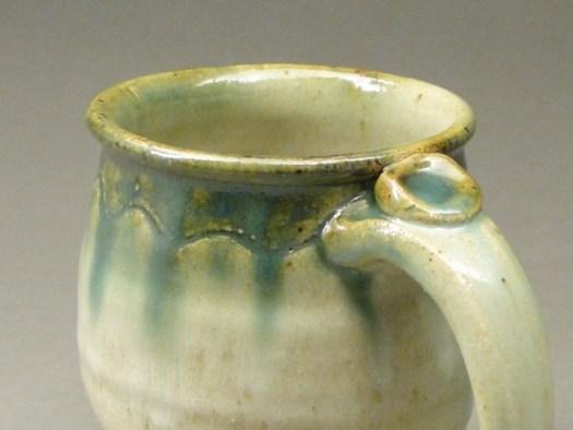 Green Handmade Ceramic Coffee Mug, SKU #617, Image 3