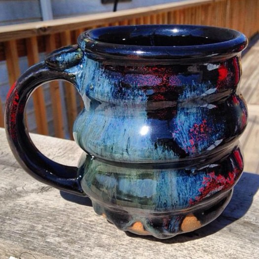 image 04, Cosmic Mug, Pottery In the Sun on the Deck, Cherrico Pottery