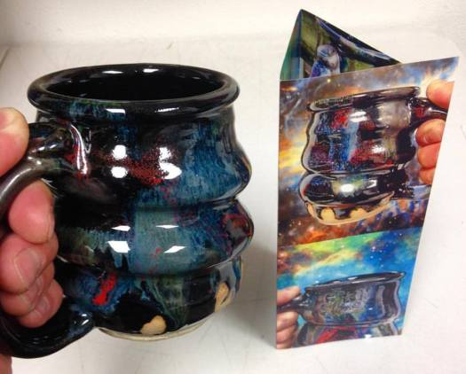 cosmic mug and new brochure, cherrico pottery