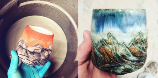 Image 3, Cherrico Pottery Mountain Pottery, Mountain Cups