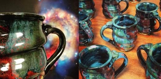 Handmade Cosmic Mugs Pottery, Cherrico Pottery Header for Mailchimp