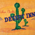 The Desert Inn 12 x 18 Acrylic with prismacolor and glitter on panel (2003) by Cherry Capri