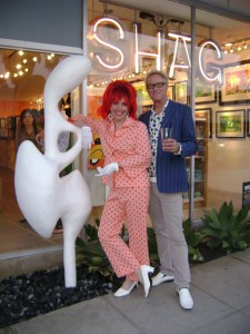 SHAG store sculpture installation with Josh Agle