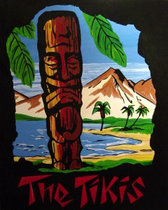 It's All About the Tikis 42 x 52, Acrylic and Mixed Media on Panel, 2003 by Cherry Capri