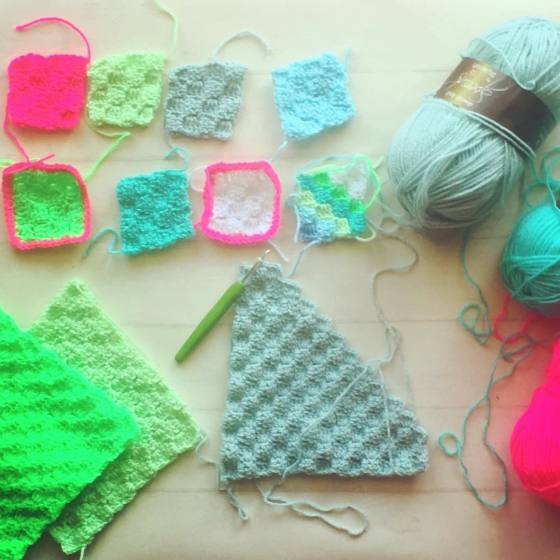 crochet samples for the new blanket