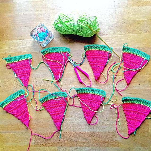 If we all crochet a watermelon garland would summer comehellip