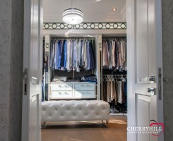 The gent's dressing room in a private Sandhurst residence.
