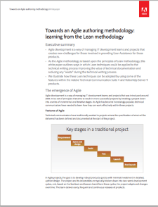 Towards an Agile authoring methodology