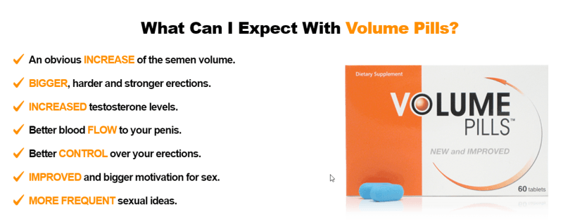 Effects from volume pills what can I expect