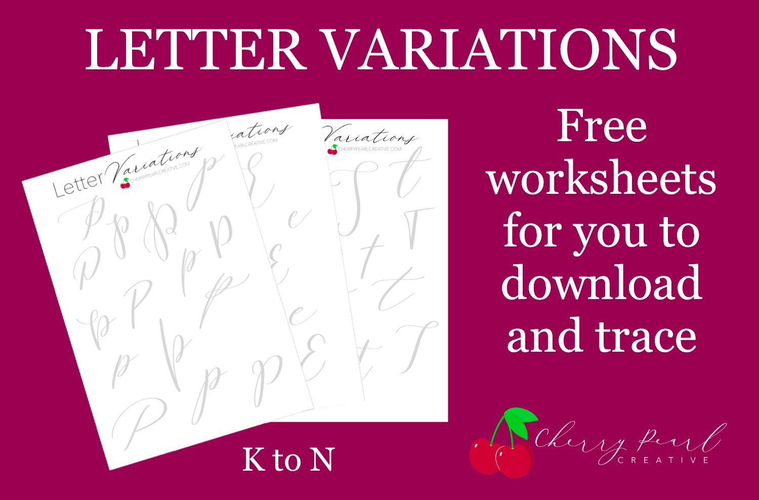 New Alphabet Variation Worksheets Ready For You K To N