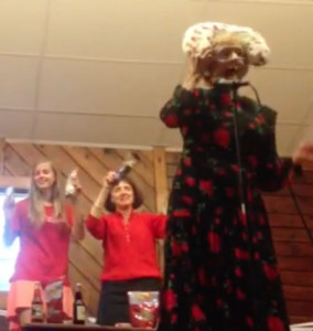 Momma Mary at the Talent Show