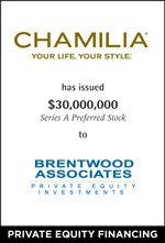 Chamilia, LLC Partners with Brentwood Associates
