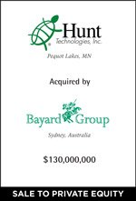 Cherry Tree Announces the Sale of Hunt Technologies to Bayard Group