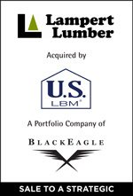 Lampert Lumber acquired by U.S. LBM a portfolio company of BlackEagle