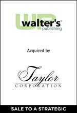 Walter's Publishing acquired by Taylor Corporation