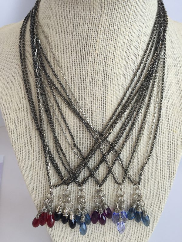 Gift Idea Swarovski Crystal Cluster Mixed Metal Necklaces