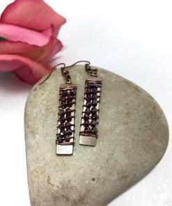 Swarovski Crystal Rose Rock Candy Dangle Earrings
