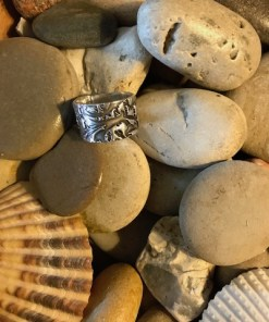 Organic Textured Sterling Silver Band Ring