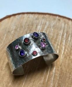 Sterling Silver Purple Sky Cuff Bracelet