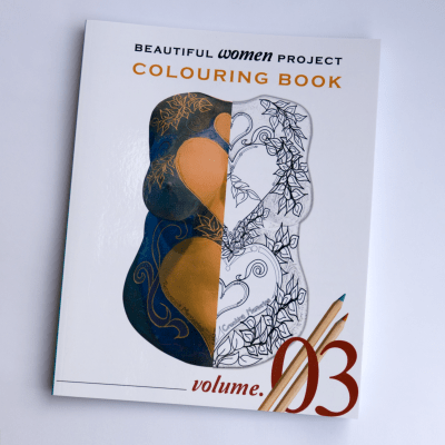 Volume 3 of the Beautiful Women Project colouring e-books