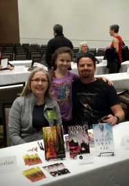 Aaron Bunce, Josie and me at the Author Meet and Greet.