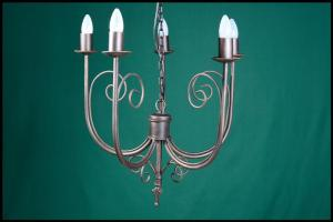 Lyn 5 Arm Wrought Iron Chandelier