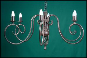 Perry 6 Arm Wrought Iron Chandelier
