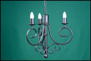 Sally 3 Arm Wrought Iron Chandelier